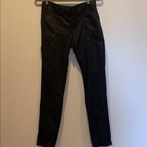 WHBM size 4 The Skinny black faux leather pants